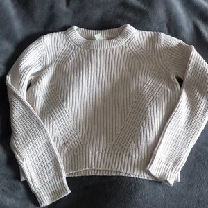 H&M Light Grey Cropped Sweater